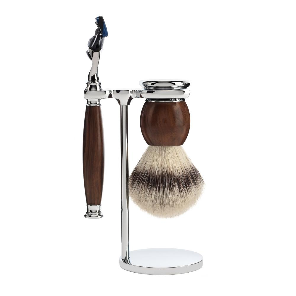 MÜHLE SOPHIST Ironwood 3-piece Silvertip Fibre / Fusion Shaving Set