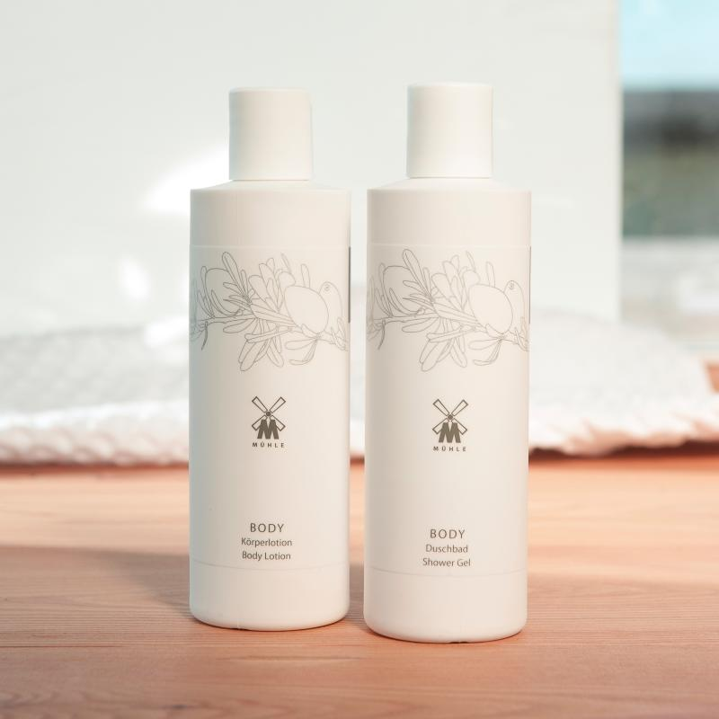 The ORGANIC Body Lotion and Shower Gel by MÜHLE