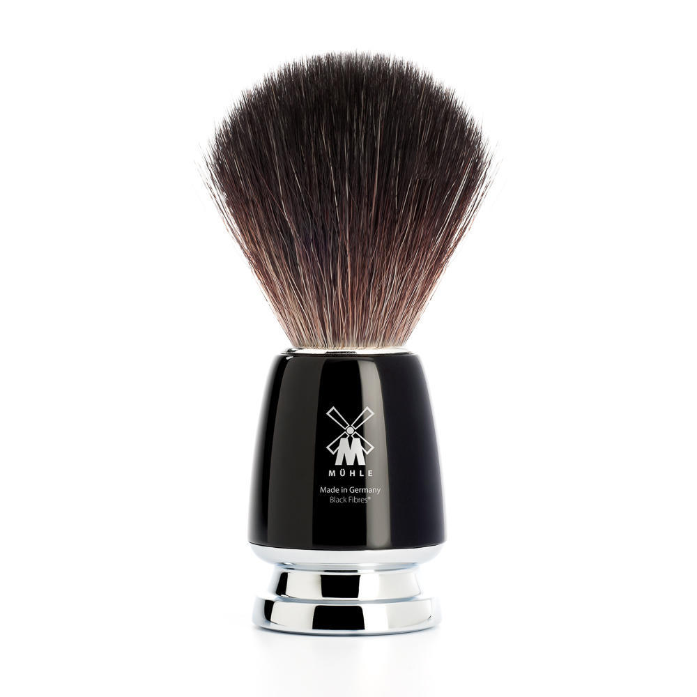 MUHLE RYTMO Black Handle Black Fibre Shaving Brush - 21M226