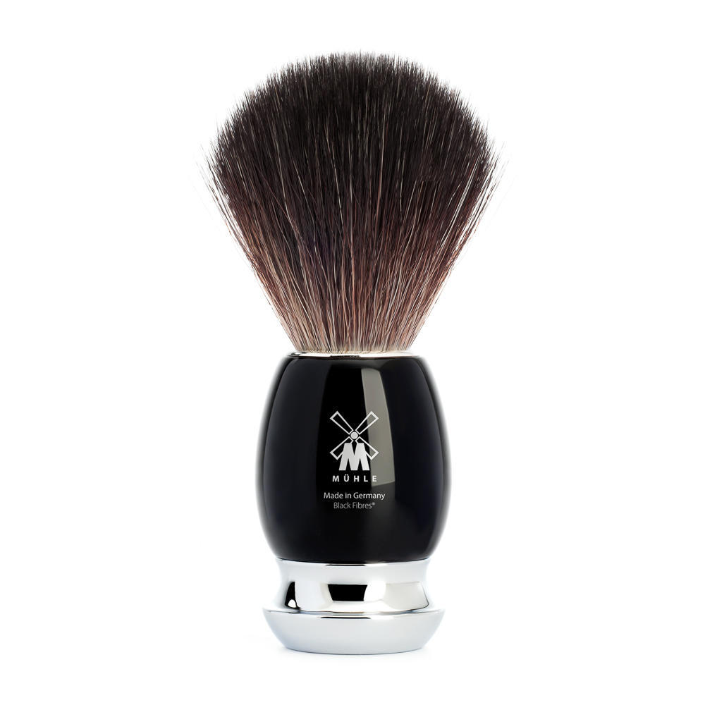 MUHLE VIVO Black Resin Handle Black Fibre Shaving Brush - 21M336