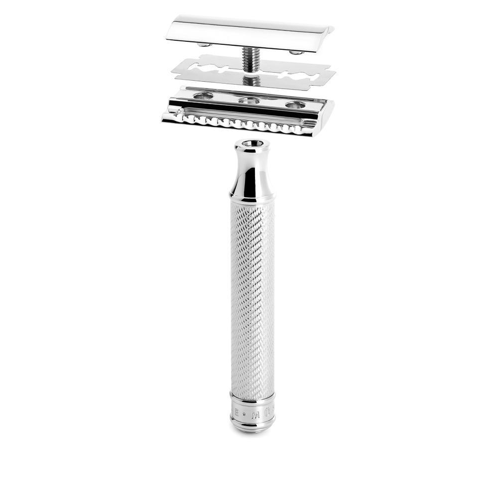 MUHLE TRADITIONAL Chrome Safety Razor (Closed Comb) - R89