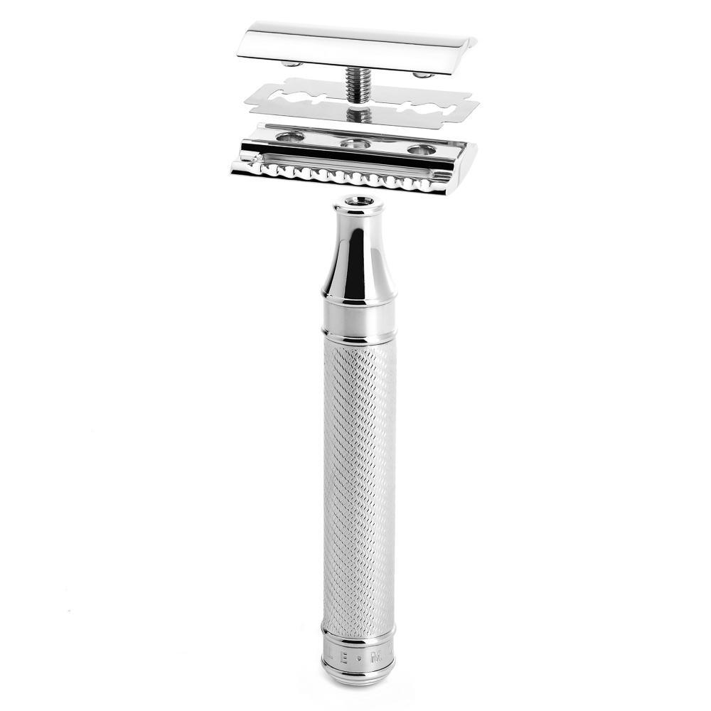MUHLE TRADITIONAL Large Chrome Closed Comb Safety Razor - R89GRANDE