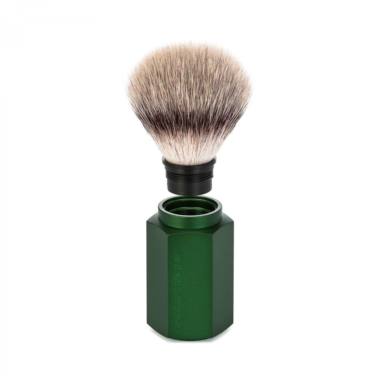 MUHLE HEXAGON Forest Silvertip Fibre Shaving Brush