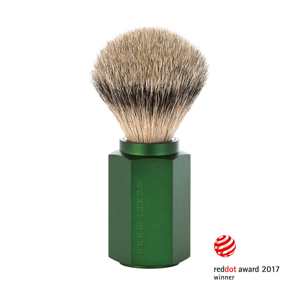 MUHLE HEXAGON Forest Silvertip Badger Shaving Brush - 091MHXGFOREST