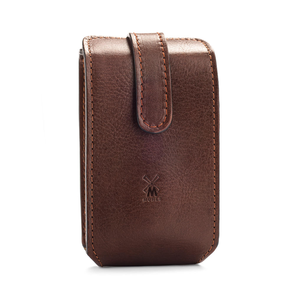MUHLE Travel leather pouch in brown