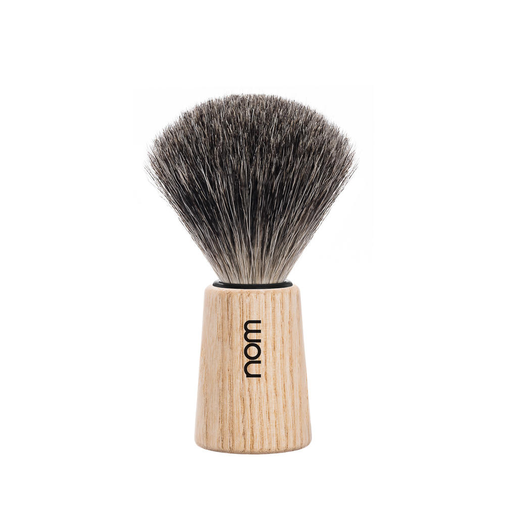 THEO81PA nom THEO, Pure Ash, Pure Badger Shaving Brush