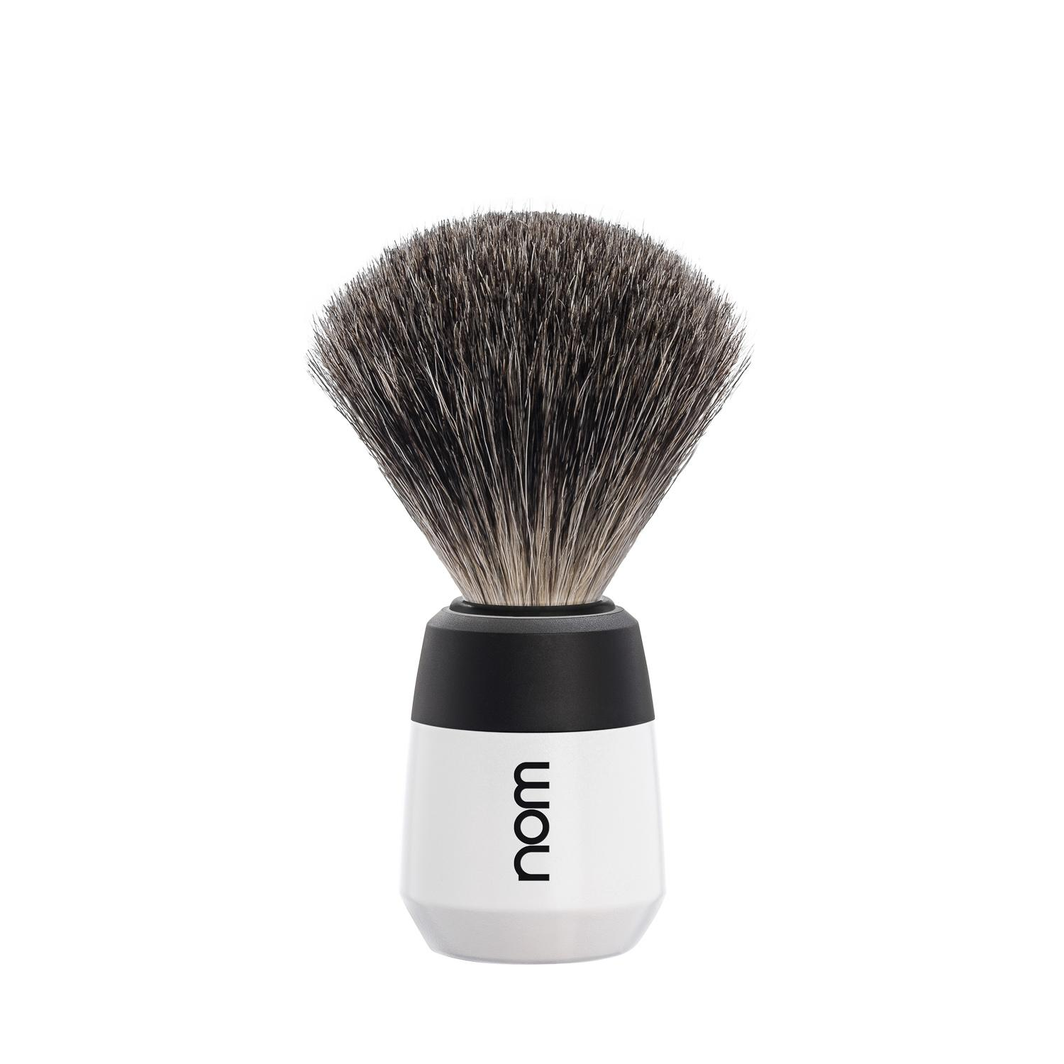 nom MAX, White, Badger Shaving Brush