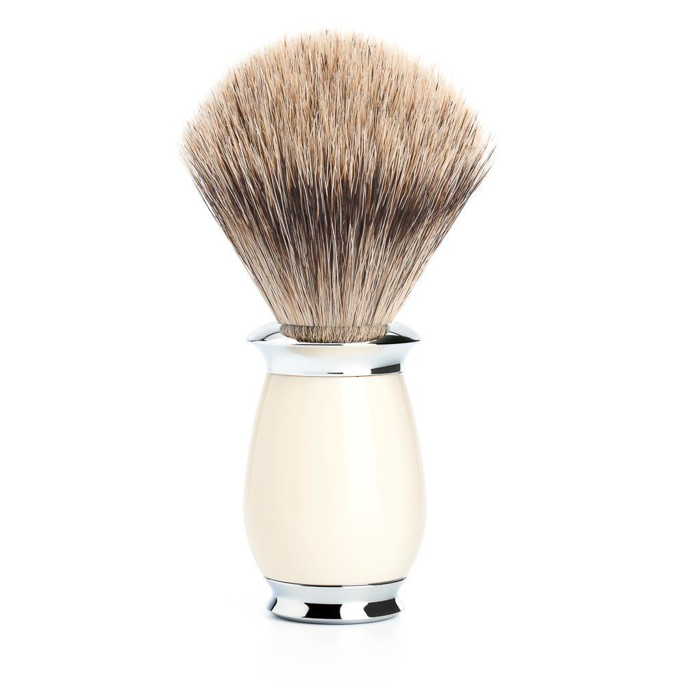 MUHLE PURIST Silvertip Badger Shaving Brush in Ivory