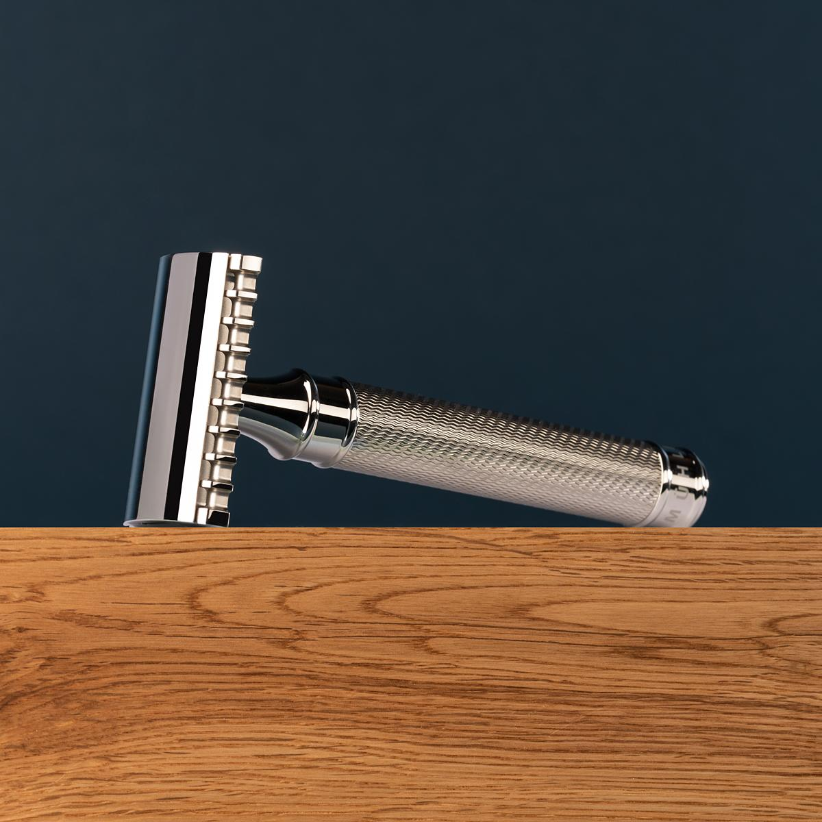 R41GS Muehle stainless steel razor