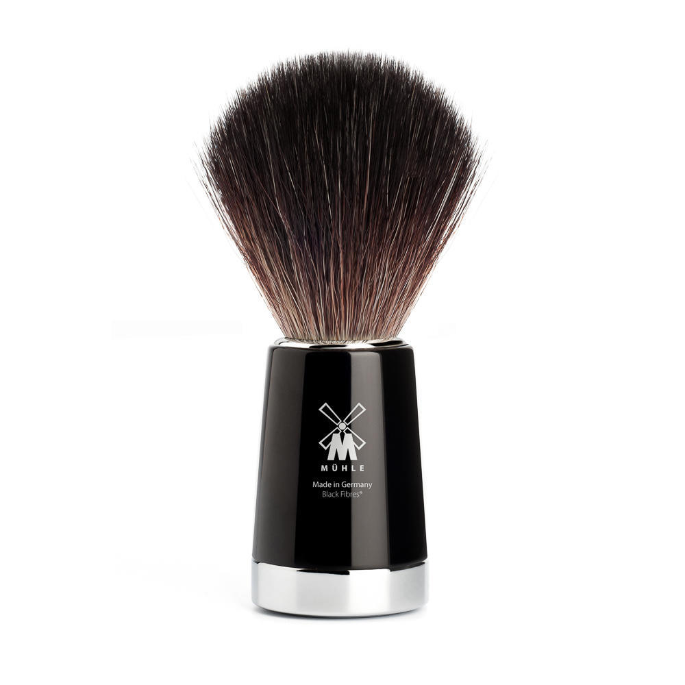 MUHLE LISCIO Black Resin Handle, Black Fibre Shaving Brush - 21M146
