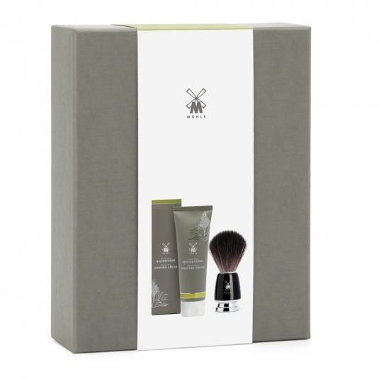 MUHLE STARTER SET Aloe Vera Shaving Cream and RYTMO Black Fibre Shaving Brush