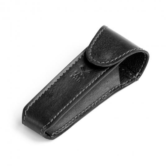 MUHLE Black Leather Safety Razor Travel Pouch - RT6
