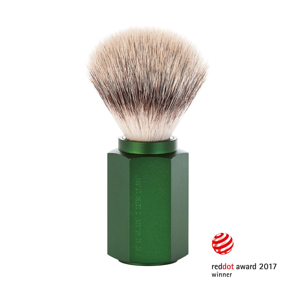 MUHLE HEXAGON Forest Silvertip Fibre Shaving Brush - 31MHXGFOREST