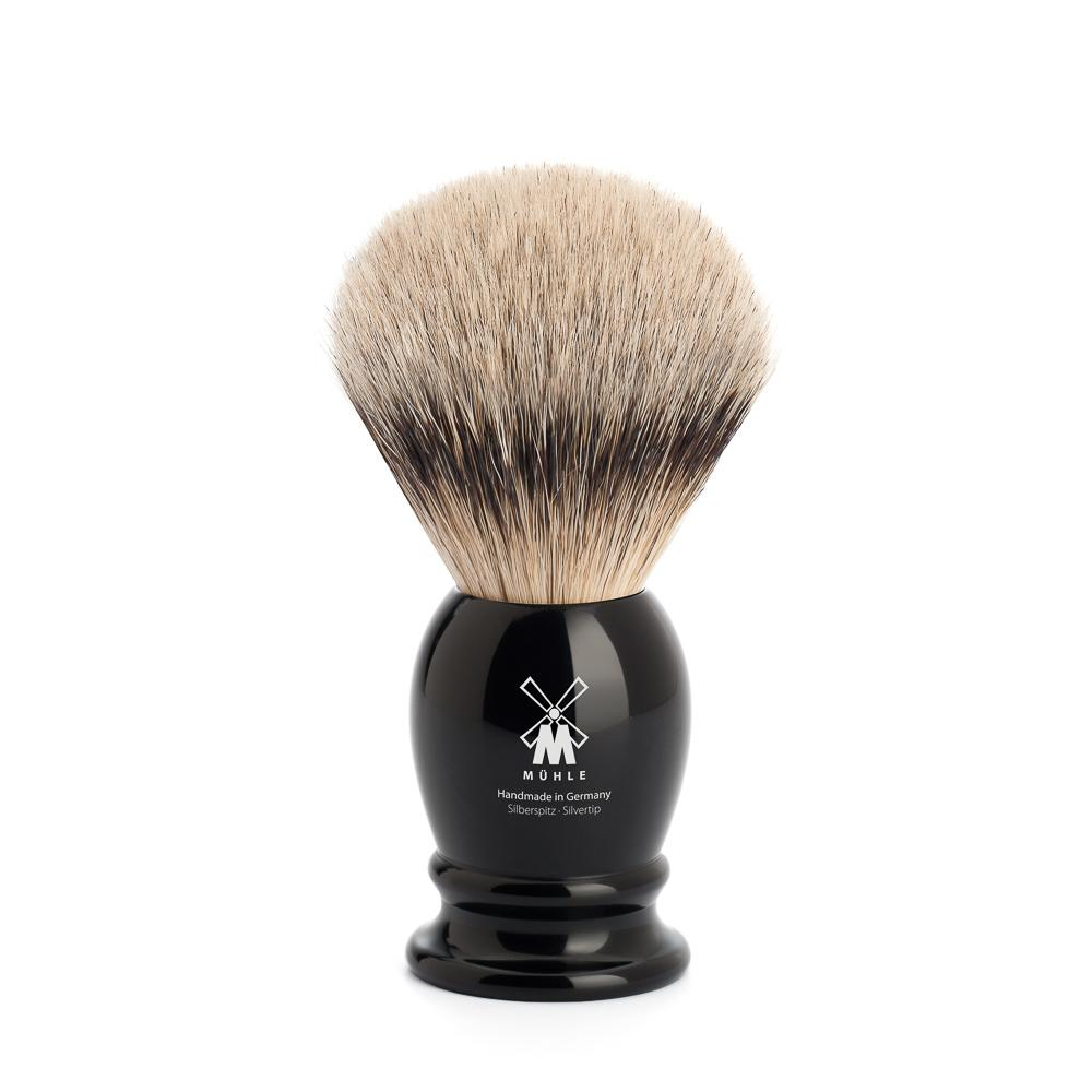 MUHLE Classic Medium Black Silvertip Badger Shaving Brush - 091K256