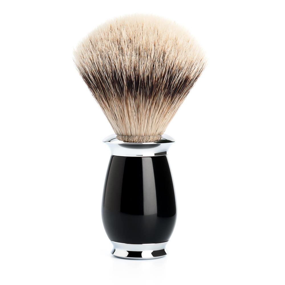 MUHLE PURIST Black Silvertip Badger Shaving Brush - 091K56