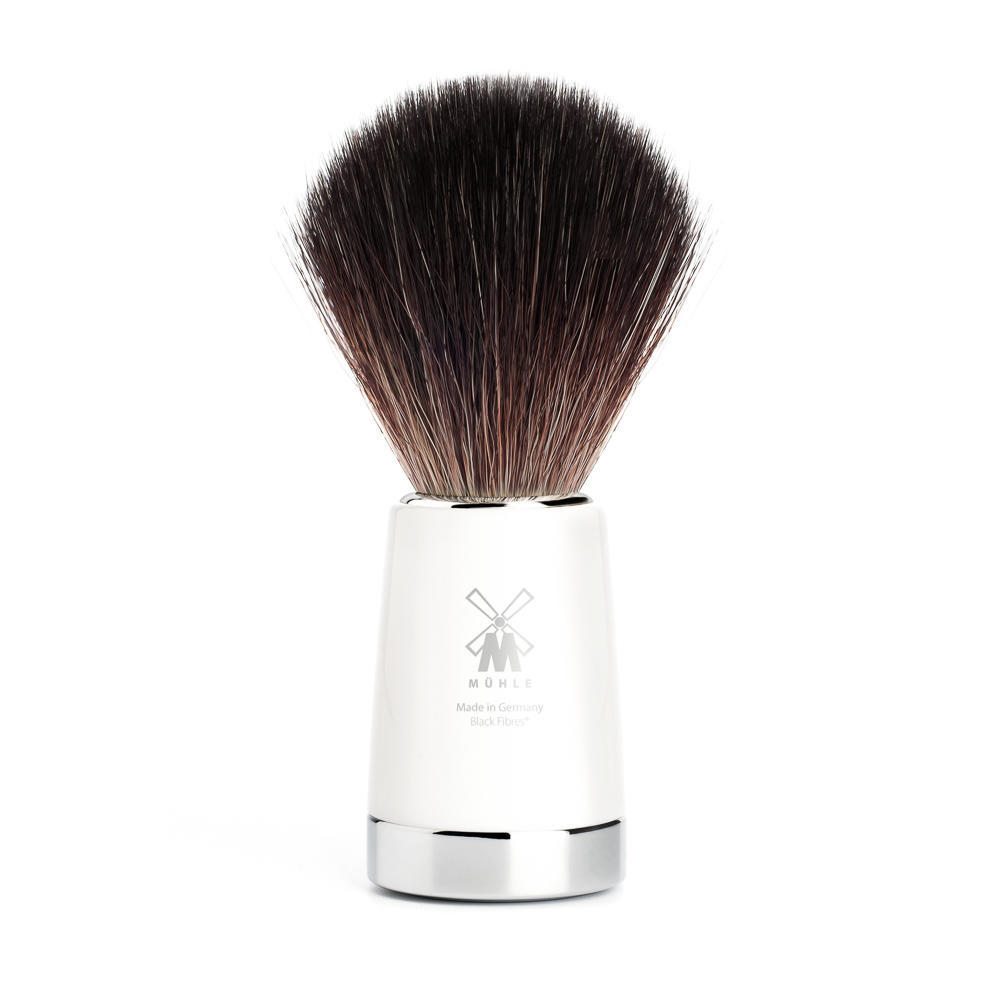MUHLE LISCIO White Resin Handle Black Fibre Shaving Brush - 21M147