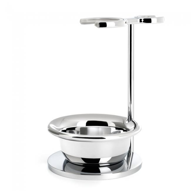 MUHLE Chrome Shaving Set Stand for VIVO & RYTMO Series Shaving Brush and Razor with Bowl - RHM22S