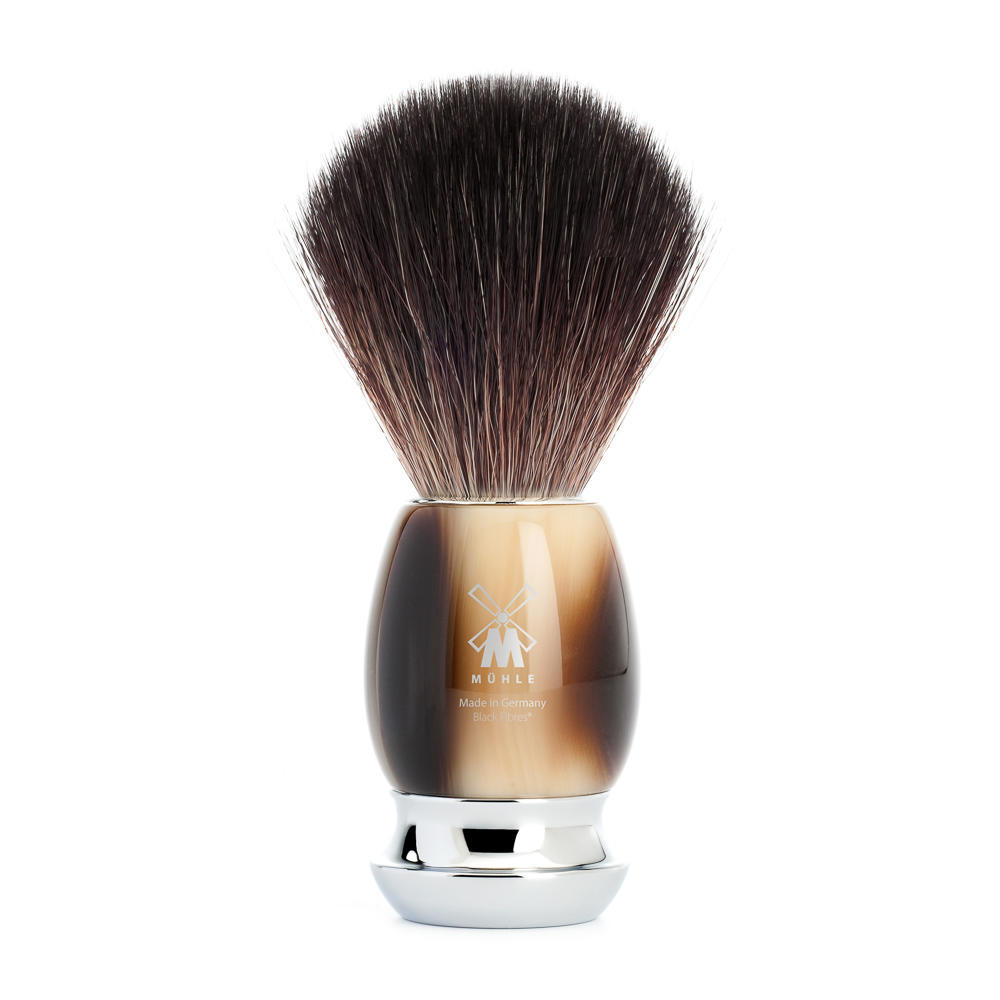 MUHLE VIVO Brown Horn Resin Black Fibre Shaving Brush - 21M332