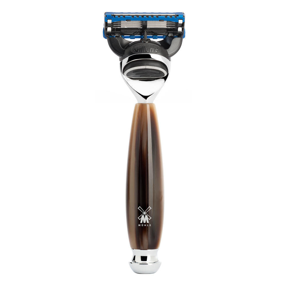 MUHLE VIVO, Brown Horn Resin Fusion Razor - R332F