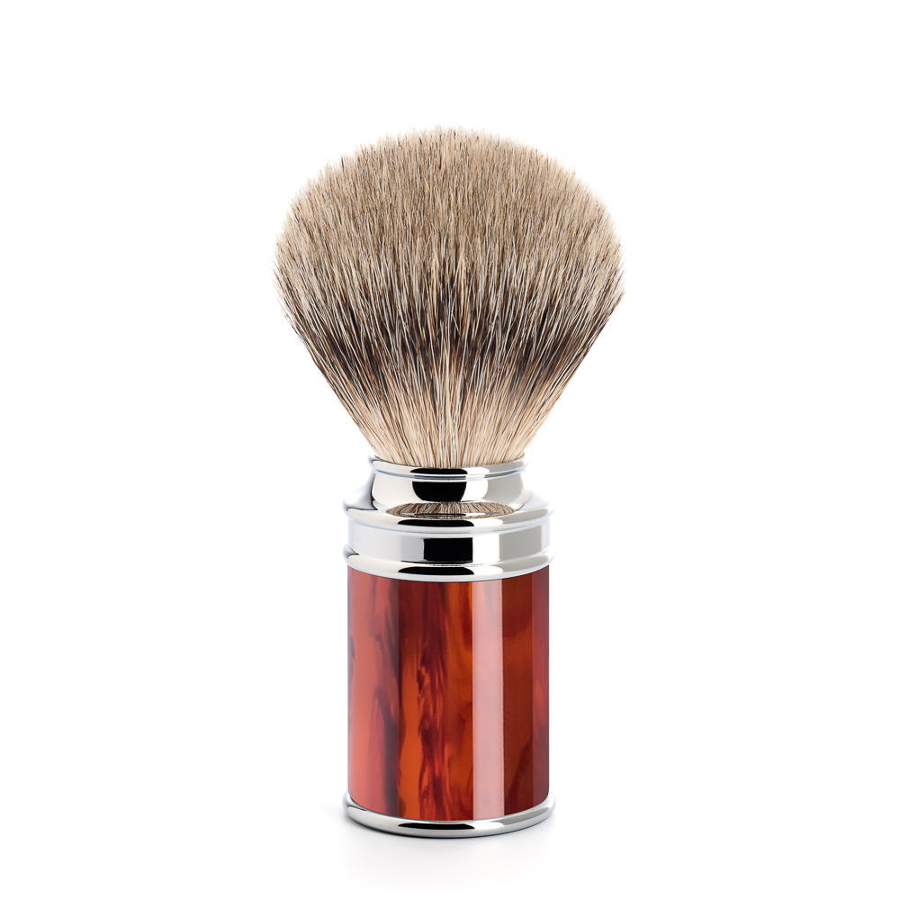 MUHLE TRADITIONAL Tortoiseshell Silvertip Badger Shaving Brush - 091M108