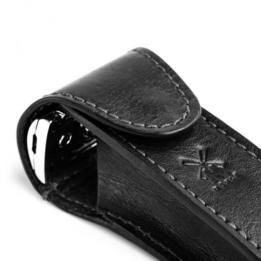 MUHLE Black Leather Safety Razor Travel Pouch