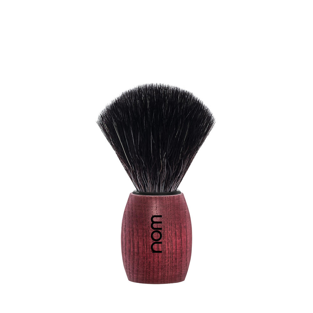 OLE21BA nom OLE, Blushed Ash, Black Fibre Shaving Brush
