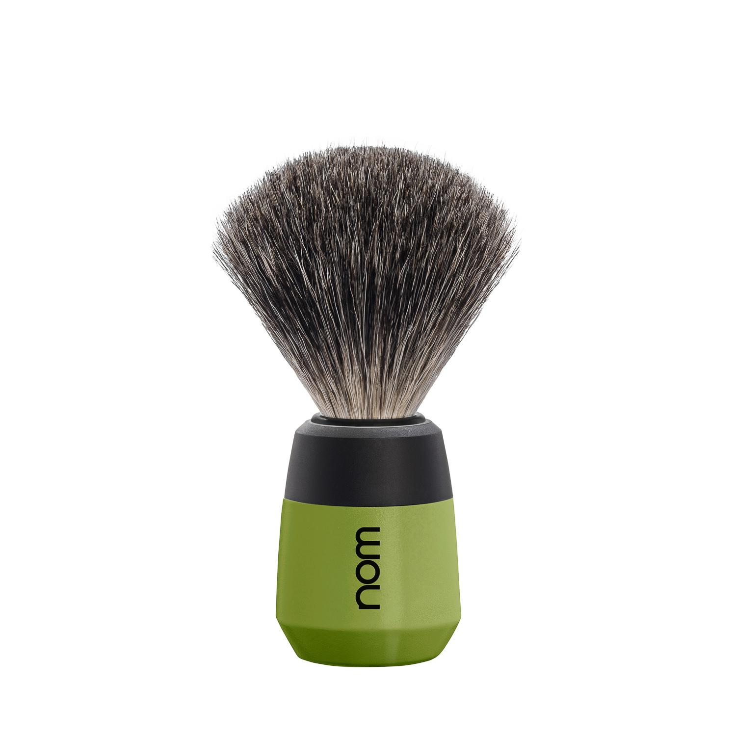 nom MAX, Olive, Badger Shaving Brush