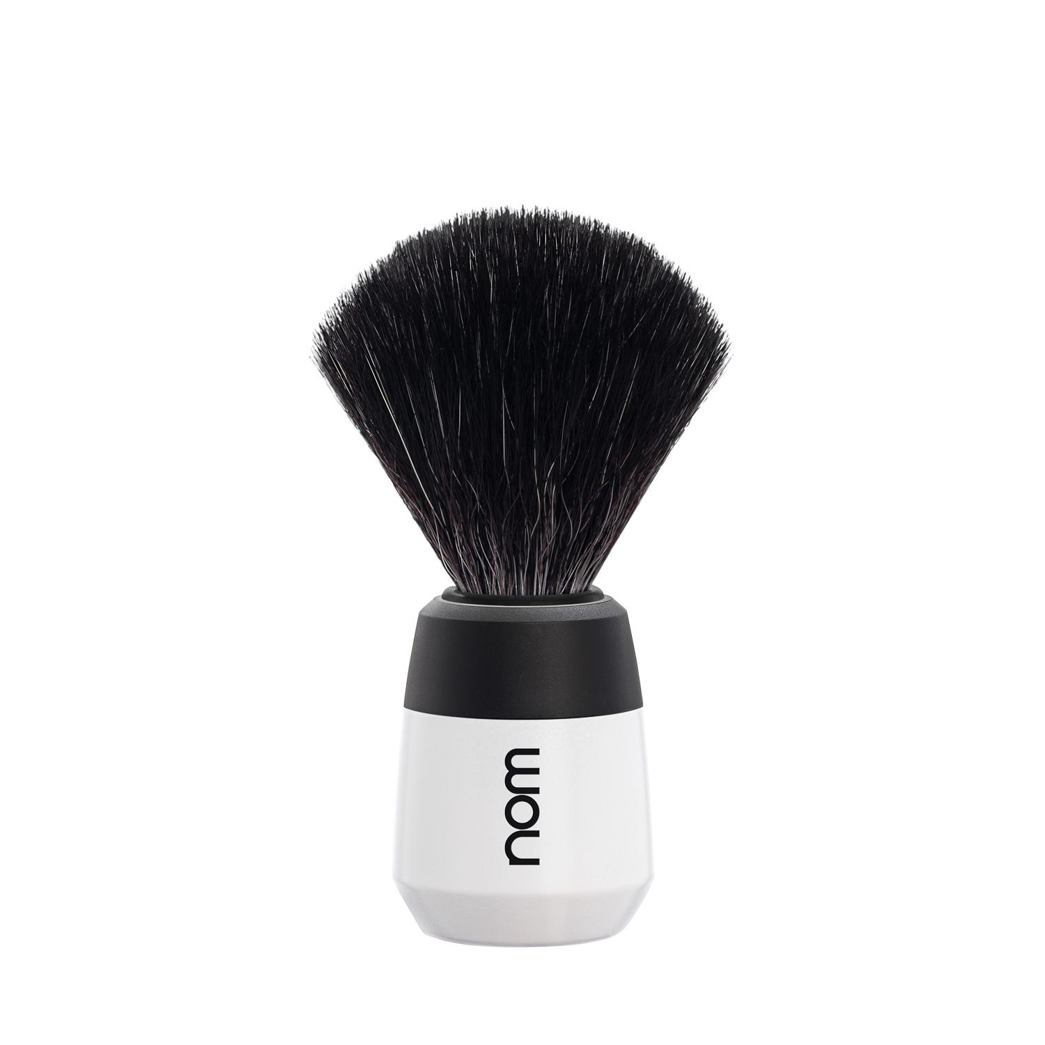 nom MAX, White, Black Fibre Shaving Brush