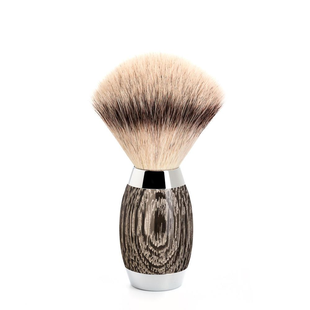 MUHLE EDITION No. 3, Bog Oak & Sterling Shaving Brush in Silvertip Fibre