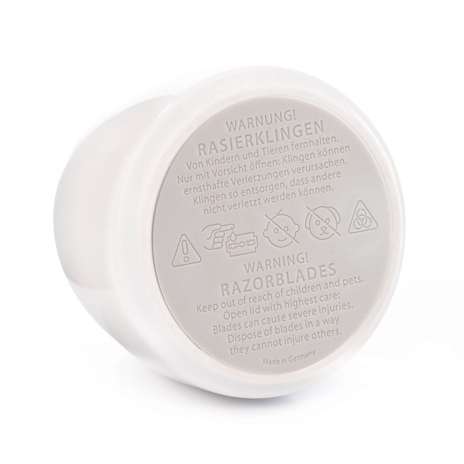 Muhle Razor Blade Collector In White Porcelain Muhle