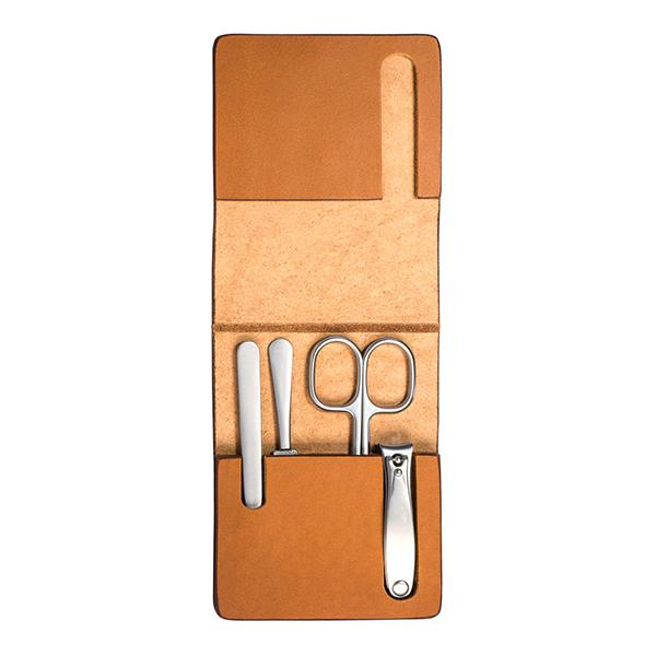 MUHLE TRAVEL Manicure Set in Cowhide Case