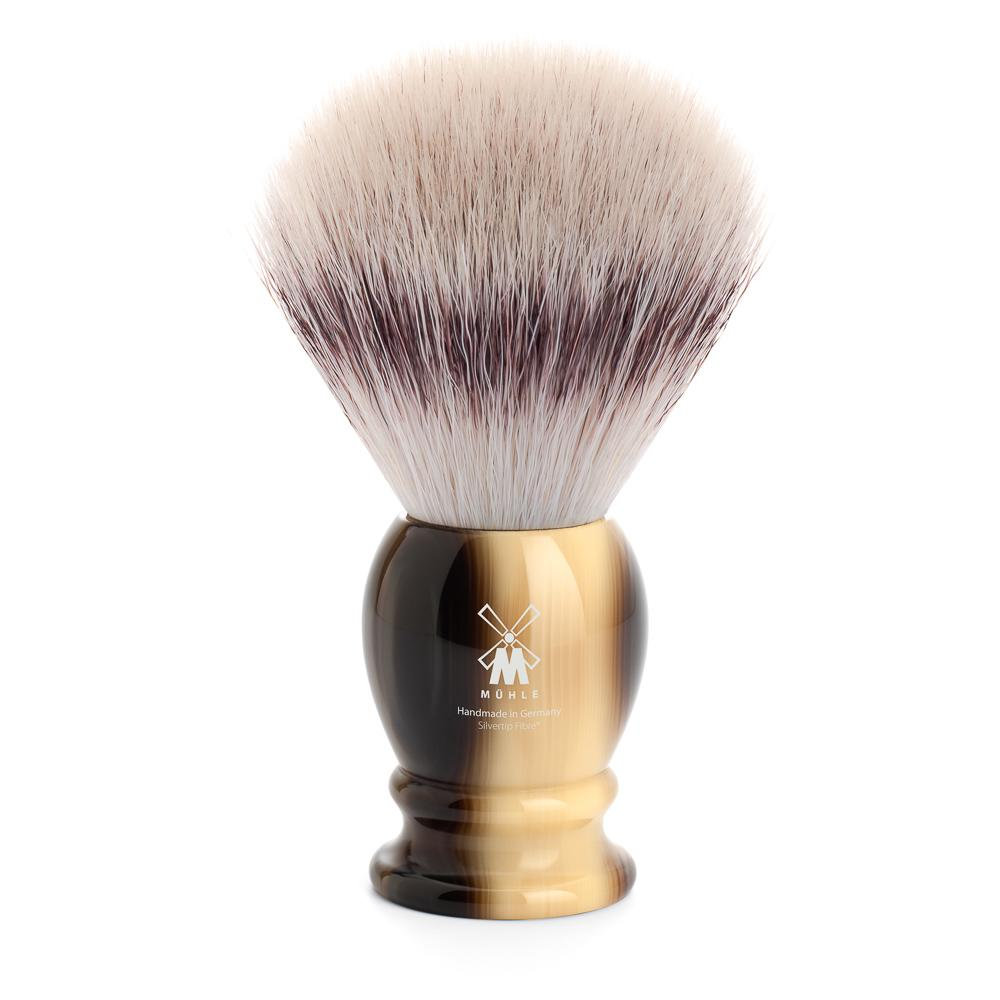 MUHLE Classic X-Large Brown Horn Silvertip Fibre Shaving Brush - 35K252