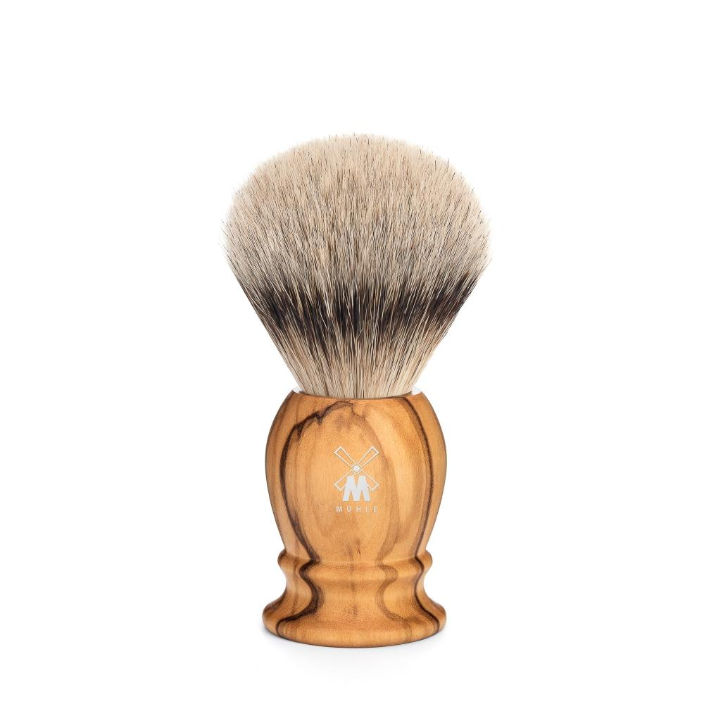 MÜHLE Classic Small Olive Wood Silvertip Badger Shaving Brush