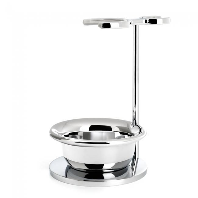Chrome plated stand with bowl