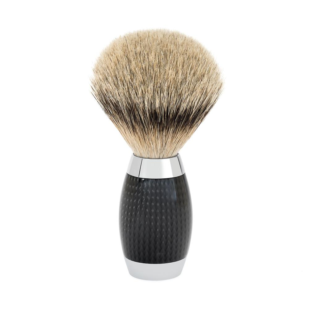 MUHLE EDITION Carbon Handle Silvertip Shaving Brush