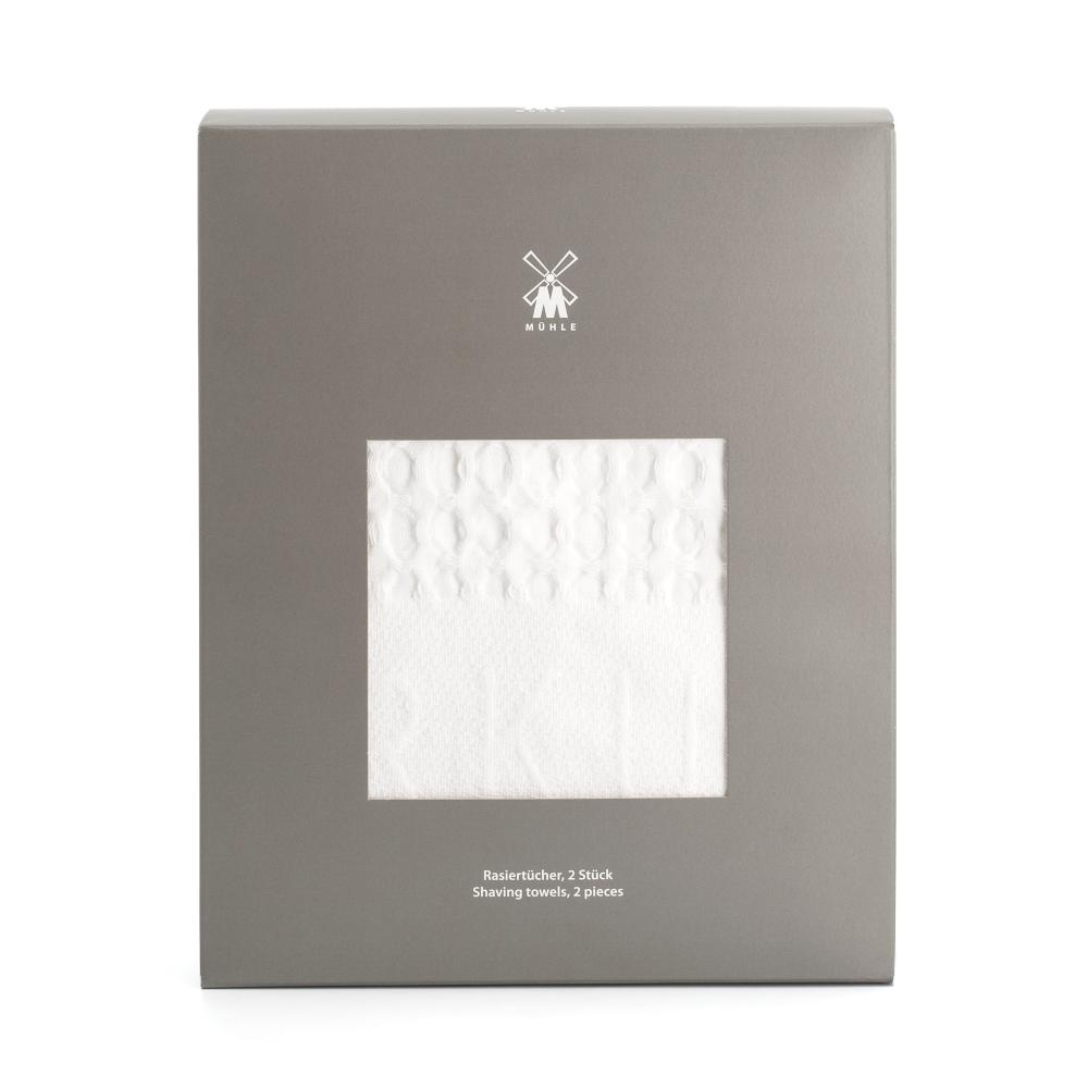 The Waffle Pique Shaving Towels by MÜHLE