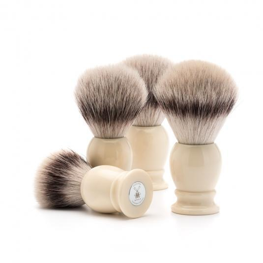 MUHLE Classic Faux Ivory Silvertip Fibre Shaving Brushes