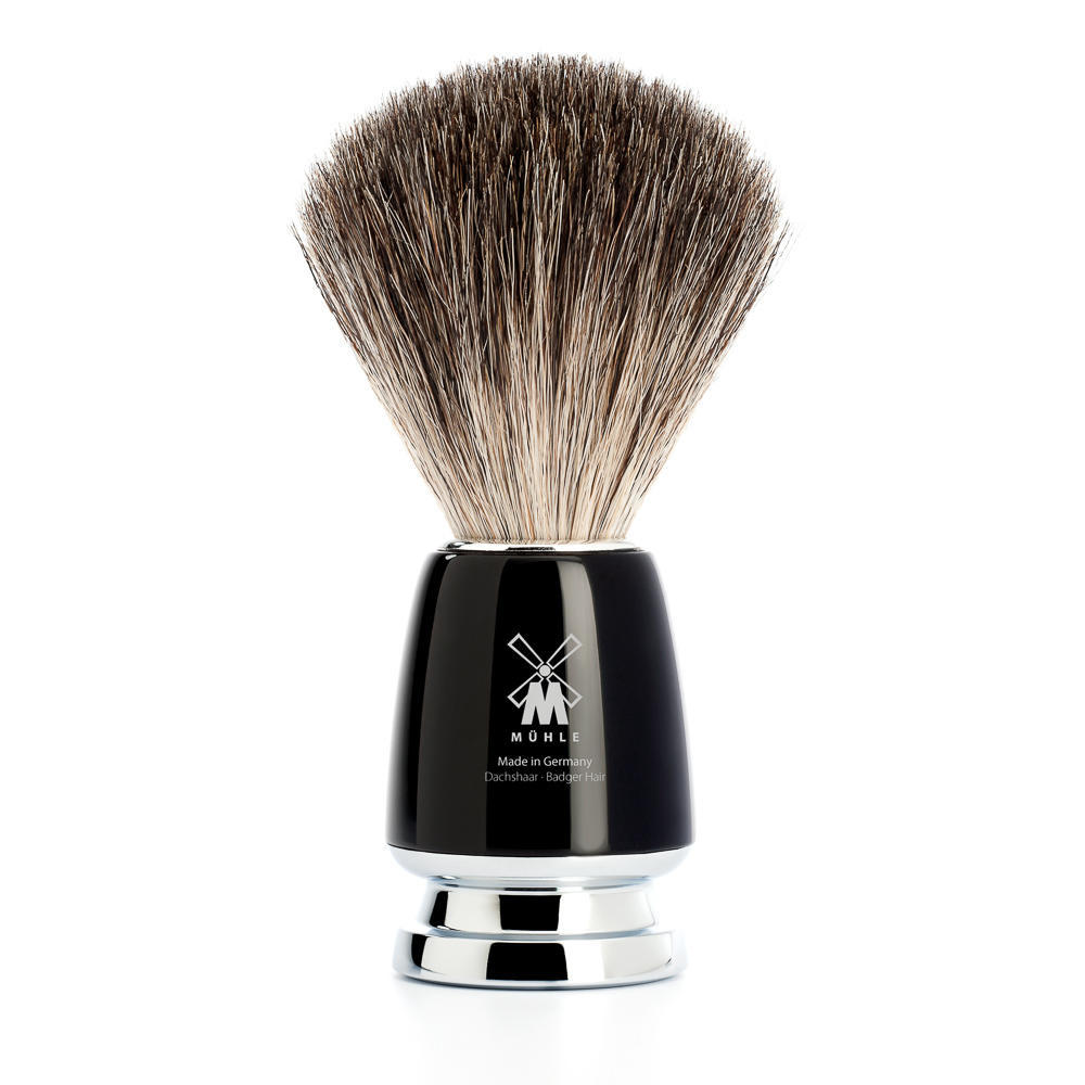 MUHLE RYTMO Black Pure Badger Shaving Brush - 81M226