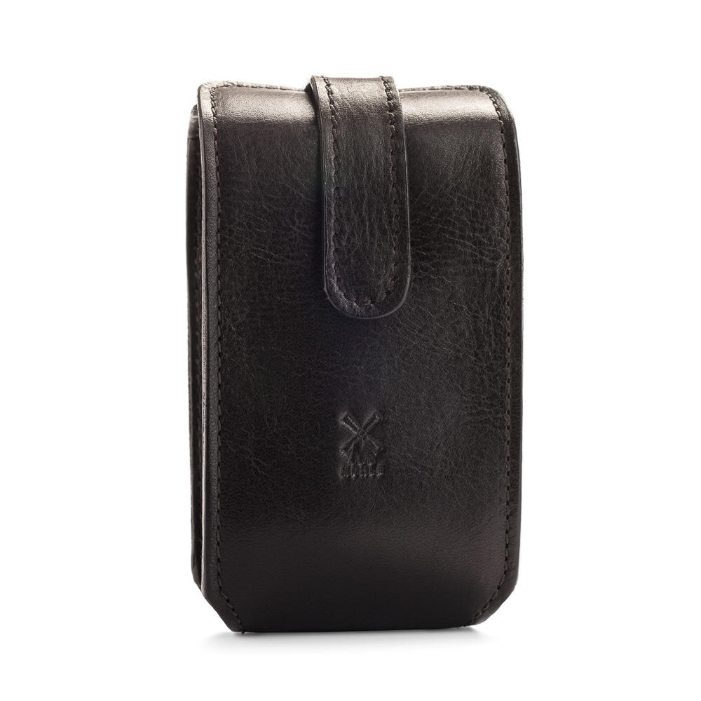 MUHLE Travel leather pouch in black