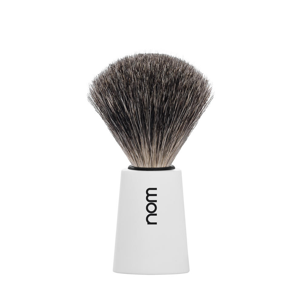 CARL81WH NOM, CARL white, pure badger shaving brush