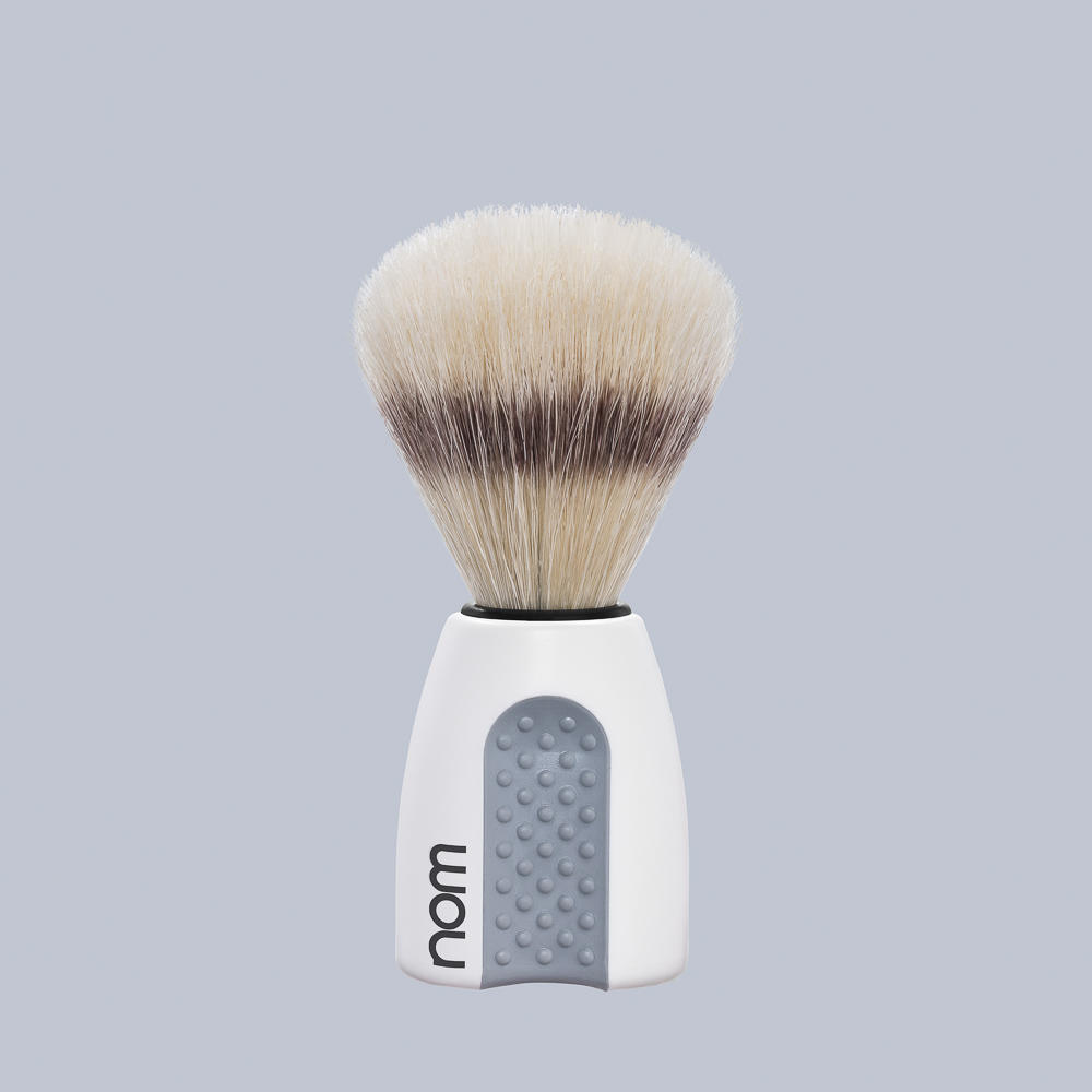 ERIK41WH NOM, ERIK white, pure bristle shaving brush