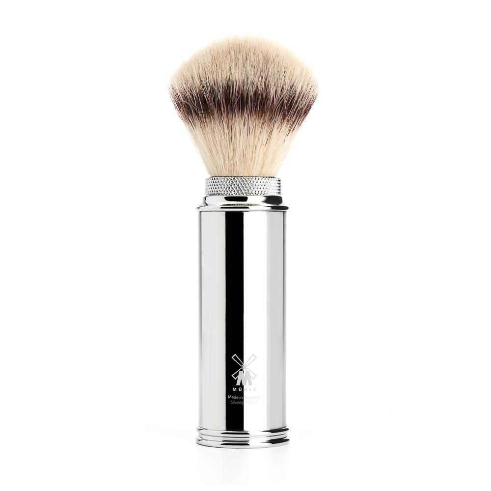 MUHLE TRAVEL Chrome Silvertip Fibre Brush