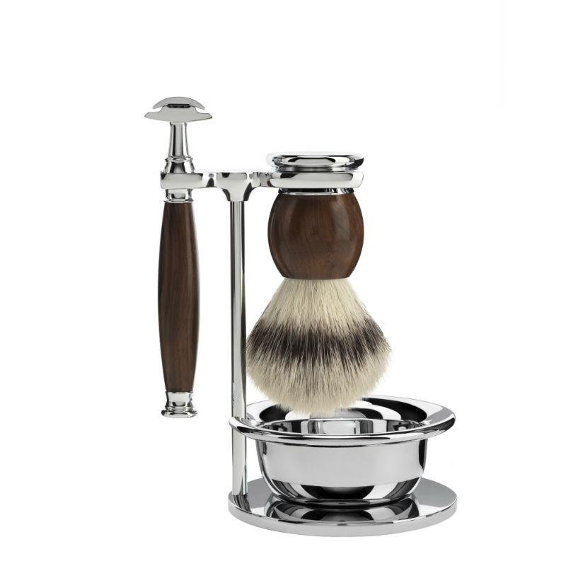 The MÜHLE SOPHIST Ironwood 4-Piece Silvertip Fibre Shaving Set.