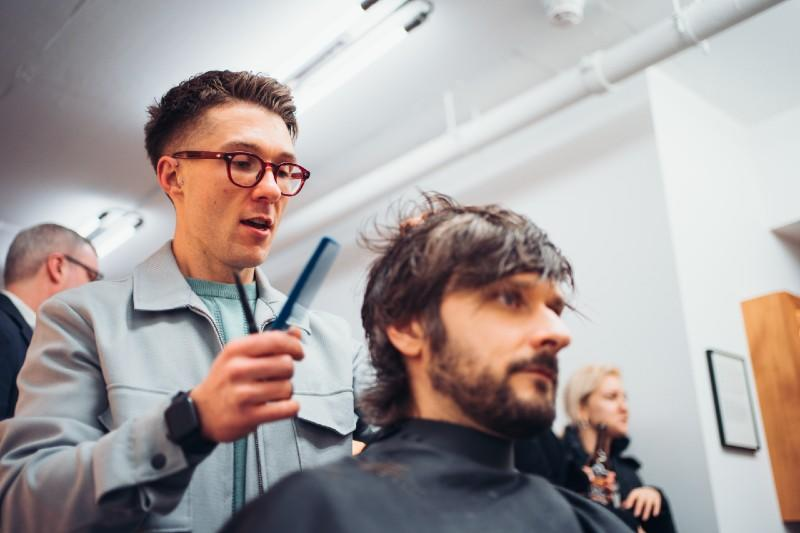 Elliot Cuts Hair at the Treatment Space