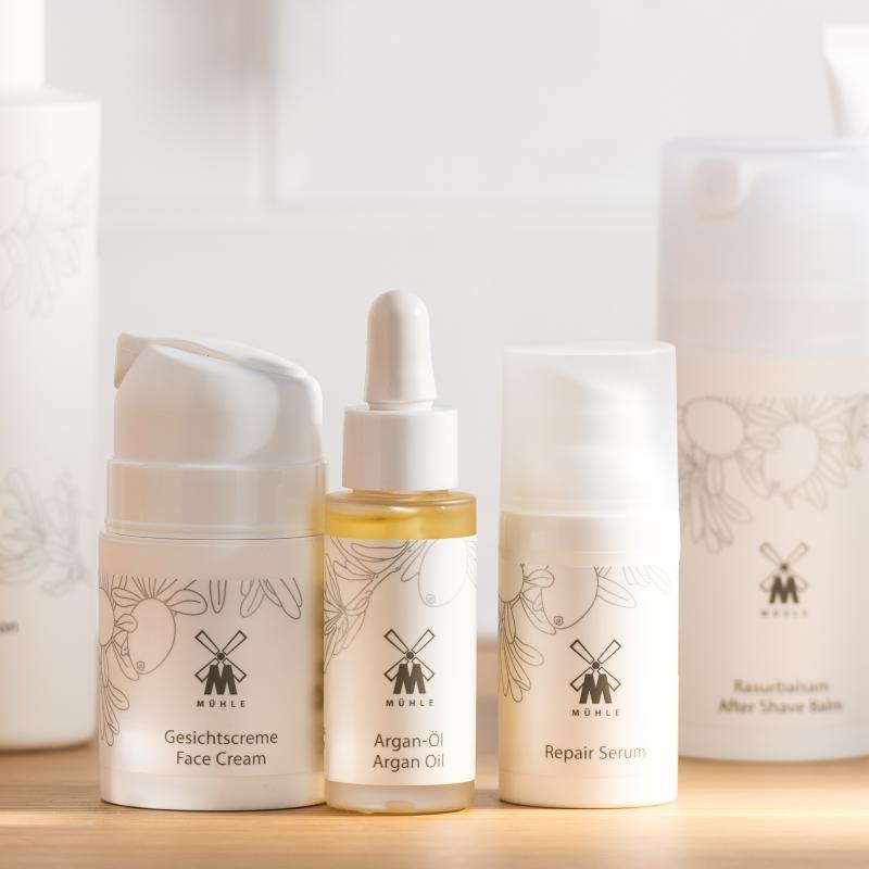 The ORGANIC Face Cream, Argan Oil and Repair Serum by MÜHLE