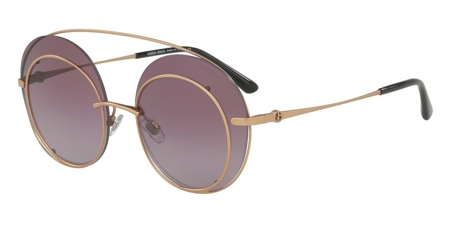 Giorgio Armani  AR6043 30068H Bronze/copper Round Sunglasses picture 1