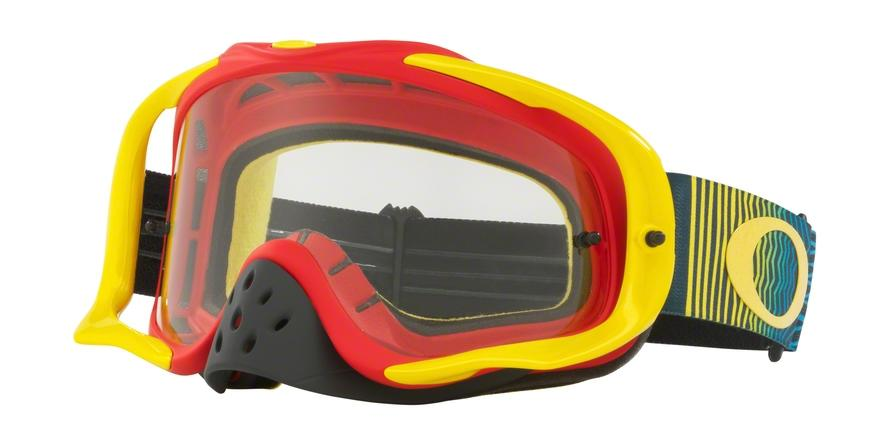 Oakley CROWBAR MX OO7025 702551 Red Irregular Goggles picture 1