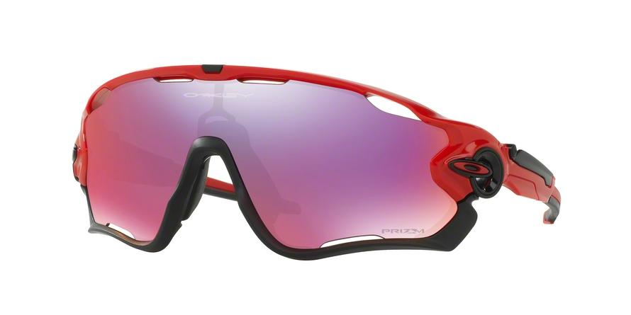 Oakley JAWBREAKER OO9290 929024 Red Rectangle Sunglasses picture 1