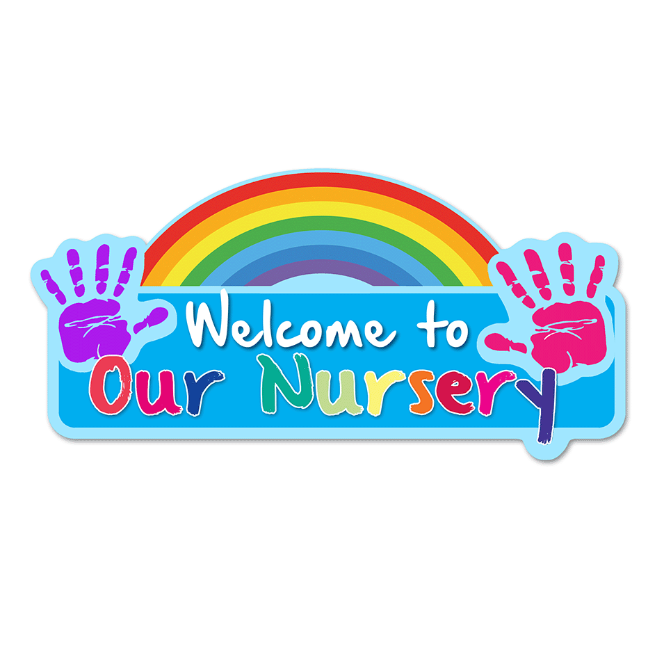 Welcome Rainbow Nursery Sign
