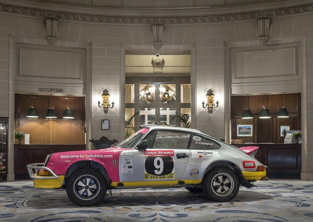 The Omologato 911 in The Rotunda RAC Club London